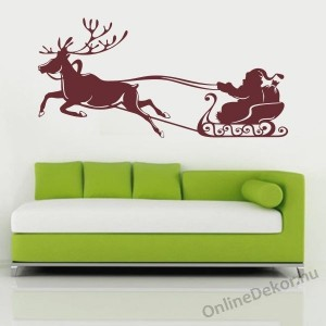 Wall sticker, Wall tattoo, Wall decoration, Wall decal - Ünnepek - Santa Claus with sleigh 2332