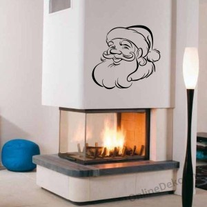 Wall sticker, Wall tattoo, Wall decoration, Wall decal - Ünnepek - Santa Claus 2333