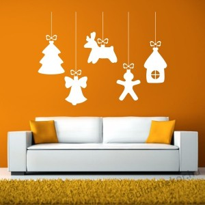 Wall sticker, Wall tattoo, Wall decoration, Wall decal - Ünnepek - Christmas decorations 2336