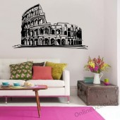 Wall sticker, Wall tattoo, Wall decoration, Wall decal - City - Colosseum 2346