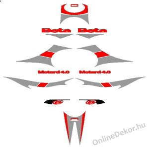 Motor sticker, Motor decal - 01.Motor sticker - Beta - Motard 4.0