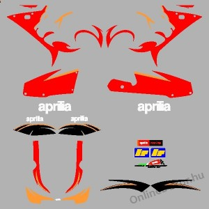 Motor sticker, Motor decal - 01.Motor sticker - Aprilia - RS 125