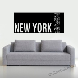 Wall sticker, Wall tattoo, Wall decoration, Wall decal - Name, Texts - New York 2361