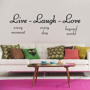 Wall sticker, Wall tattoo, Wall decoration, Wall decal - Name, Texts - Live-Laugh-Love 2363