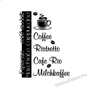 Wall sticker, Wall tattoo, Wall decoration, Wall decal - Name, Texts - Coffee 2364