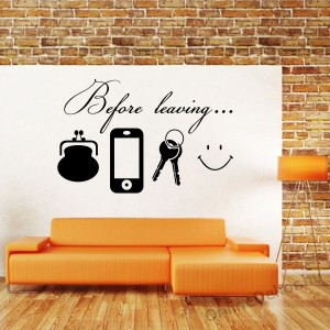 Wall sticker, Wall tattoo, Wall decoration, Wall decal - Name, Texts - Before leaving 2365