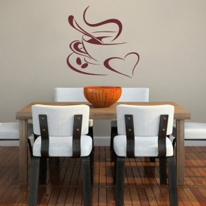 Wall sticker, Wall tattoo, Wall decoration, Wall decal - Kitchen - Coffee (2) 2380