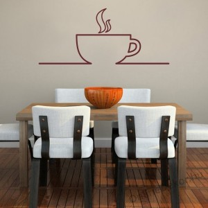 Wall sticker, Wall tattoo, Wall decoration, Wall decal - Kitchen - Coffee (4) 2383