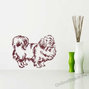 Wall sticker, Wall tattoo, Wall decoration, Wall decal - Kutyák - Pekingese 2388