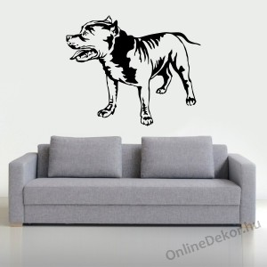 Wall sticker, Wall tattoo, Wall decoration, Wall decal - Kutyák - Pit bull 2389