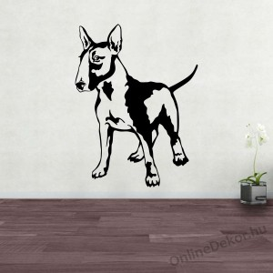 Wall sticker, Wall tattoo, Wall decoration, Wall decal - Kutyák - Bull terrier 2390