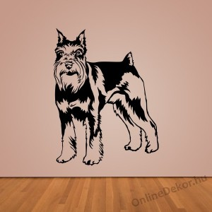 Wall sticker, Wall tattoo, Wall decoration, Wall decal - Kutyák - Schnauzer 2391