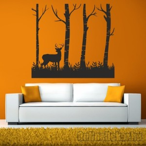 Wall sticker, Wall tattoo, Wall decoration, Wall decal - Animal - Forest with deer 2413