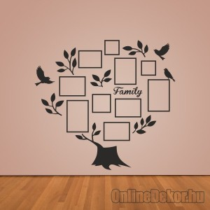 Wall sticker, Wall tattoo, Wall decoration, Wall decal - Family tree, Photo position - Family tree with frame (1) 2415