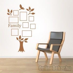 Wall sticker, Wall tattoo, Wall decoration, Wall decal - Family tree, Photo position - Family tree with frame (2) 2416