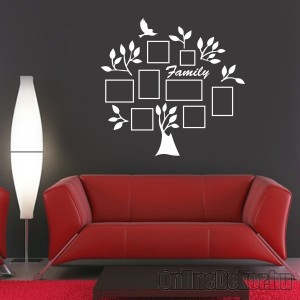 Wall sticker, Wall tattoo, Wall decoration, Wall decal - Family tree, Photo position - Family tree with frame (3) 2417