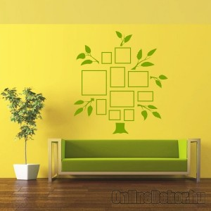 Wall sticker, Wall tattoo, Wall decoration, Wall decal - Family tree, Photo position - Family tree with frame (4) 2418