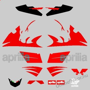 Motor sticker, Motor decal - 01.Motor sticker - Aprilia - RS Lion