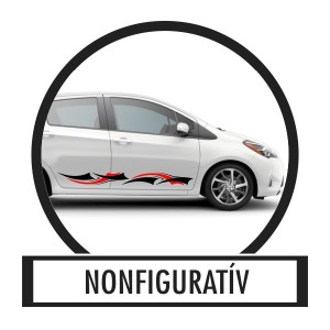 Car sticker, Car decoration, Car decal - 03.Nonfigurative